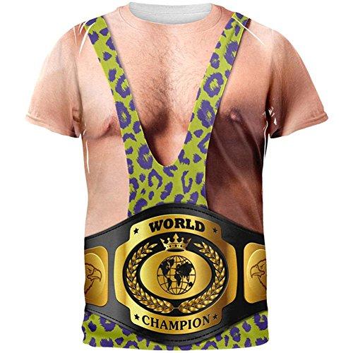 Ringer mit WM-Gürtel aller Erwachsenen T-Shirt Multi