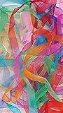 Nastri di organza, 20m x 24mm, space dyed, glitterati, luminosi e di vari color pastello