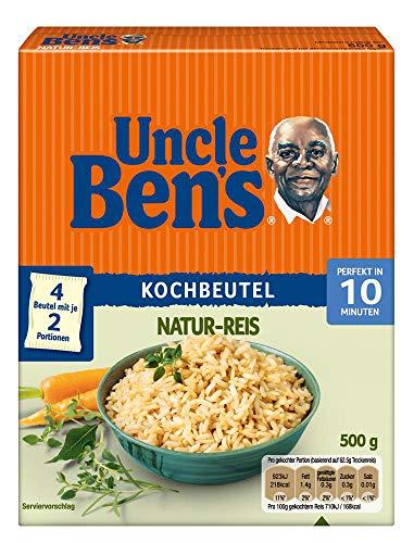 Uncle Ben's Natur-Reis 10-Minuten Kochbeutel, 4er Pack (4 x 500g)