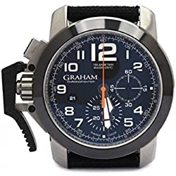 Graham Chronofighter Oversize 2 Clock ccacb03at12s Breaker Steel quandrante Black Fabric Strap