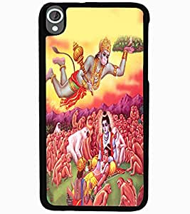 ColourCraft Lord Hanuman Design Back Case Cover for HTC DESIRE 820