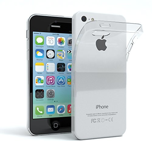 "Apple iPhone 5C Hülle, EAZY CASE Ultra Slim Cover ""Clear"" - Premium Handyhülle Transparente Schutzhülle, Smartphone Case in Transparent Transparent Weiß"