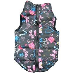 Ropa Para mascotas Amlaiworld Ropa de camuflaje de mascota perros Ropa de invierno de mascotas pequeñas abrigos ropa chaleco chaqueta de mascotas (Negro, M)