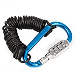 sourcingmap® Aluminium Carabiner Hook Code Lock Spring Combination Cable Padlock - Sourcingmap - amazon.co.uk