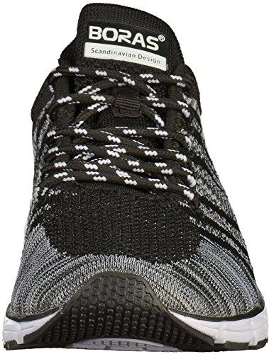 Formatori Mens 41 42 43 44 45 46 scarpe sportive in bianco e nero Boras schwarz