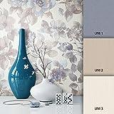 NEWROOM Blumentapete Blau Vliestapete Blumen Muster/Motiv schöne moderne und edle Design Optik, inklusive Tapezier Ratgeber