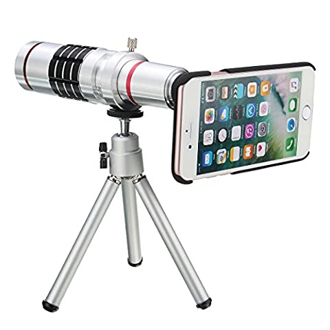 MASUNN 18X Optical Zoom Telescope Camera Lens Tripod Kit And Back Case Cover For Iphone 7