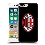 Head Case Designs Offizielle AC Milan Volle Farbe Schwarz 2018/19 Kamm Ruckseite Hülle für iPhone 7 Plus/iPhone 8 Plus