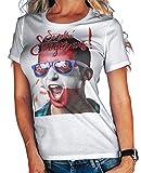Stylotex Damen/Girlie T-Shirt So sehn Sieger aus Shout for Austria Österreich, Größe:L, Farbe:Weiss