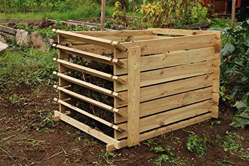 Lacewing Bac à Compost en Bois Facile à Charger - Petite Taille (449 litres)