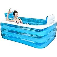 Bain gonflable, la baignoire est plié, baignoire adulte épaissie baignoire bain baril en plastique.