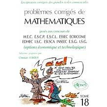 Mathématiques HEC 1995, tome 18 : Option économique et technologique
