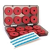Linea de pesca - TOOGOO(R) 16 piezas rojo Linea de pesca de espuma Juegos de bobinas Trastos con caja de plastico