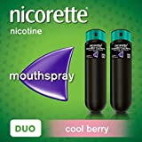 Nicorette QuickMist Mouth Spray, Cool Berry, Duo Pack, 1 mg - Stop Smoking Aid