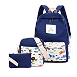 Best Under Armour Backpacks For Teen Girls - jjyxny Canvas Backpack Set 3 Pcs, Casual School Review