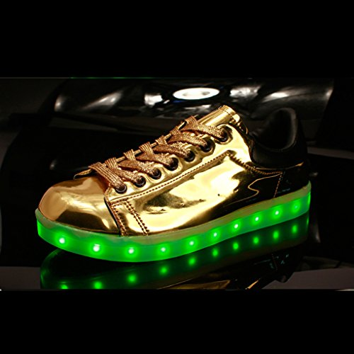 BOOWJESSEA , Mädchen Sneaker Gold