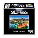 KINDERTRÄUME 3D Effekt-Puzzle Puzzle 500 Teile 50x40 cm Pferde Dschungel Boot NEU, Modell / Charakter:Boot