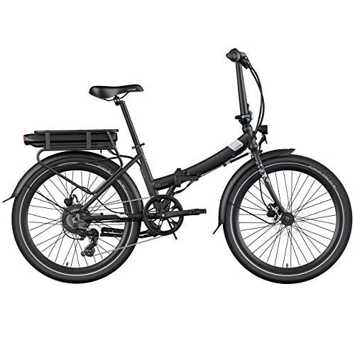 Legend Siena Vélo Électrique Pliable de Ville Smart eBike Roues de 24 Pouces, Batterie 36V 14Ah (504Wh), Noir Onyx