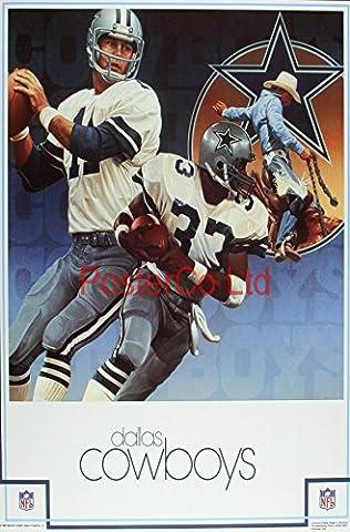 Dallas Cowboys NFL (Football américain)-encadrée Produit officiel NFL Impression–50,8cm H x 40,6cm