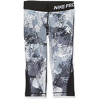 Nike NP AOP3 Pantalones 3/4, Niñas, Negro/Blanco (Stealth), XS