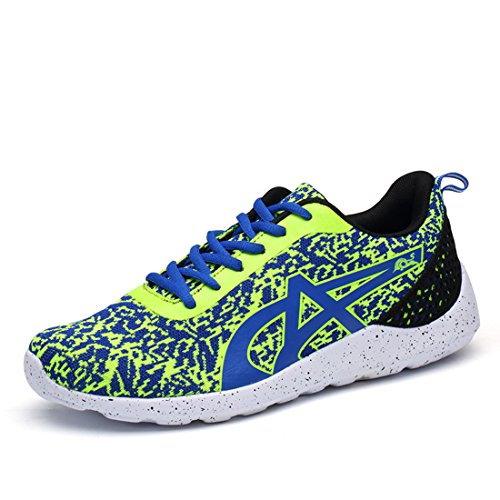Men's Gray Low Top Breathable Running Shoes green