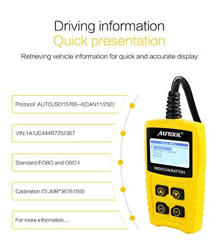 Auto Codeleser CS330 Scan für OBDII / EOBD / CAN Automotive Scanner Auto OBD2 Diagnose Tool Unterstützung Analysieren Autobatterie Spannung Genau - 8