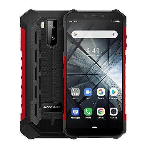 Ulefone ARMOR X3(2019), Rugged smartphone Cellulari e Smartphone, 5.5 cellulari ip68 Android 9.0, Dual SIM, 2 GB di RAM 32 GB ROM, 8MP + 5MP + 2MP, batteria 5000mAh, sblocco viso GPS Rosso