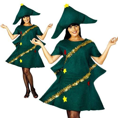 Damen Weihnachtsbaum-Kostüm für Erwachsene, Weihnachtsbaum, Kostüm, Damen, Kinder, Weihnachtsbaum, Kostüm, Cosplay 160-170cm (Weihnachtsbaum Kostüm Kind)