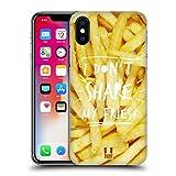 Head Case Designs Pommes Gedanken Übers Essen Ruckseite Hülle für Apple iPhone X