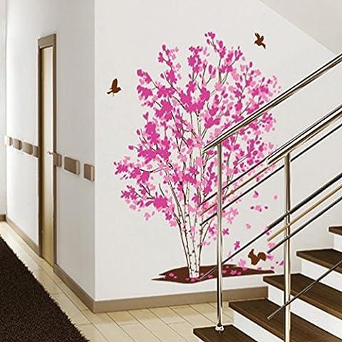 Home Mode Traum Baum Wandaufkleber (Abnehmbar, Wasserdicht, Grün) für Wohnzimmer Schlafzimmer Büro Wohnheim Hintergrund