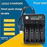 Gaddrt 4 Slot Plug Smart Battery Charger 4 Bay Per Batterie Ricaricabili 10440 18350 18650 16340