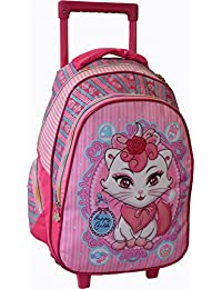 Bagages-madisson - Sac a dos Trolley Madisson Chaton - Rose