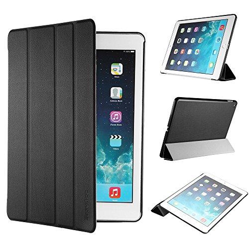iPad Air 2 Hülle, EasyAcc Ultra Slim iPad Air 2 Hülle Case Cover Schutzhülle Bumper Lederhülle Flip mit Standfunktion / Auto Sleep Wake up für iPad Air 2 / ipad 6 – Schwarz, Ultra Slim