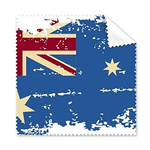 JINSH Australien Flavor Flag Retro Style Illustration Brillenputz Tuch Telefon Bildschirmreiniger Flag Telefon