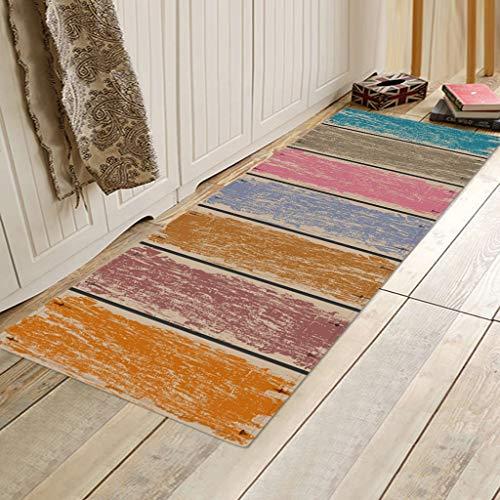 Scrolor StufenmattenTeppiche Küchenteppich rutschfeste Teppiche mit kleinem Akzent für Eingangsbereich und Schlafzimmer Lässige Mode Eleganter Teppichunterleger (40x120cm)
