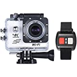 """Andoer White, Russian Federation: RU Stock 4K Camera 2"""" LCD Screen Wifi Action Camera 16MP 4X Zoom Sports Camera 170 Wide-angle Waterproof 30M With Remote Control"""
