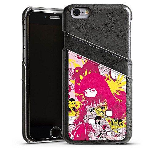 Apple iPhone 5 Housse Étui Silicone Coque Protection couleurs Motif Motif Étui en cuir gris