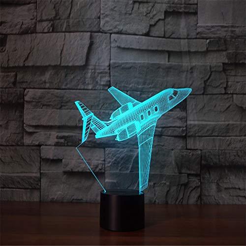 3D Illusion Flugzeug USB Led Nachtlicht Touch Schalter 7 Farbwechsel Innenlicht Flugzeug Schreibtisch Tischlampe Wohnkultur ## 9 (Wand-kalender Illusion)