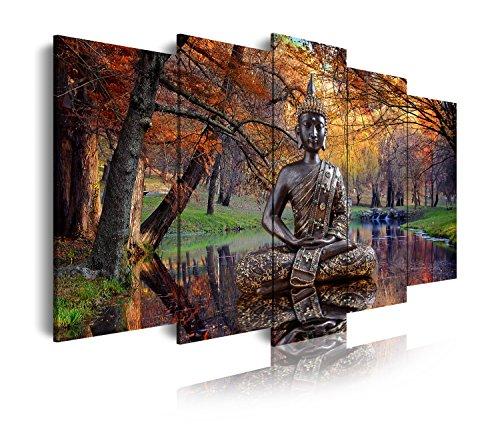 DekoArte 17 - Cuadro moderno lienzo 5 piezas zen buda