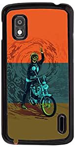 PrintVisa Sports Extreme Bike Case Cover for LG Nexus 4
