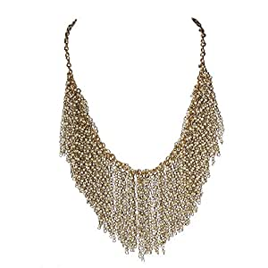 Zarood Golden Elegance Incorporated Banarasi Bead Necklace For Women
