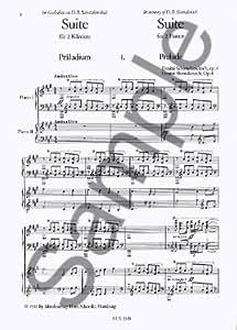 Dmitri Shostakovich: Suite For 2 Pianos Op.6 / 'Merry March'. Partitions pour Deux Pianos