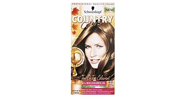 Schwarzkopf Country Colors - Haarfarbe Set - Cognac Warm Braun ...