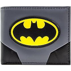 Cartera de Batman Traje original y logotipo Gris