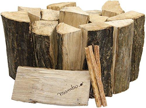 Preisvergleich Produktbild 30kg mumba Brennholz Buche 25cm Kaminholz ofenfertig mit 3 Kienspänen Muster
