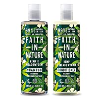 Faith in Nature Natural Hemp & Medowfoam Shampoo & Conditioner Set, Restoring Vegan & Cruelty Free, Parabens and SLS Free, for Normal to Dry Hair, 2 x 400ml 25