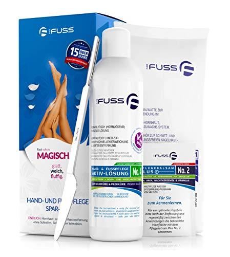 Hornhautentferner Mr. Fuss® Lösung No. 4 - schnell erweichend - 250ml Plus Pack Multi - gegen Hornhaut, Nagelhaut, Druckstellen, Schwielen mit Sofortwirkung in 10 Minuten