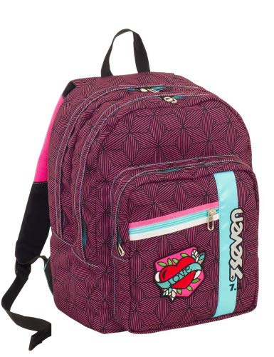 c63c2a987c Mochila Escolar Outsize Seven – Rebel Girl – Fuxia – 33 lt – Power Bank  Integrado