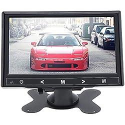 7 Pouces HD CCTV Moniteur Petit Écran LCD avec AV/VGA/HDMI Port pour DVR/PC/DVD/Domicile Bureau Système de Sécurité de Surveillance