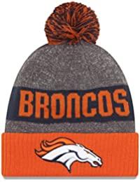 Bonnet à Pompon Sideline Knit Denver Broncos gris-orange NEW ERA